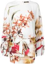 Roberto Cavalli printed long sleeve mini dress