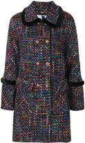 Blumarine double breasted tweed coat