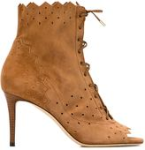 Jimmy Choo 'Dei 85' booties - women - Leather/Suede - 35.5