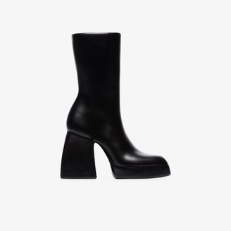 Anissa Kermiche X Nodaleto black Bulla Corta boot ceramic vase