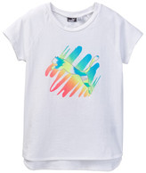 Puma Graphic Raglan Sleeve Tee (Little Girls)