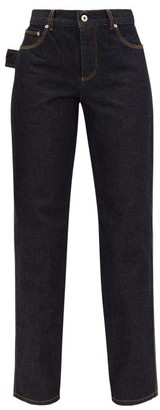 Bottega Veneta High-rise Slouchy-fit Straight-leg Jeans - Dark Blue