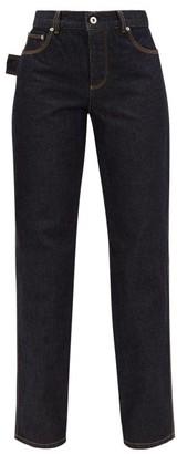 Bottega Veneta High-rise Straight-leg Jeans - Dark Blue
