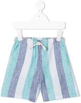 Knot - Ocean striped shorts - kids - Linen/Flax - 3 yrs