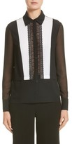 Yigal Azrouel Women's Silk Tuxedo Blouse