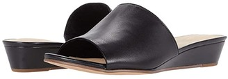 Clarks Sense Slide (Black Leather) Women's Shoes