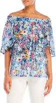 T Tahari Off-the-Shoulder Floral Top