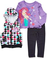 Children's Apparel Network Purple Ariel Hooded Vest & Pants Set - Toddler & Girls