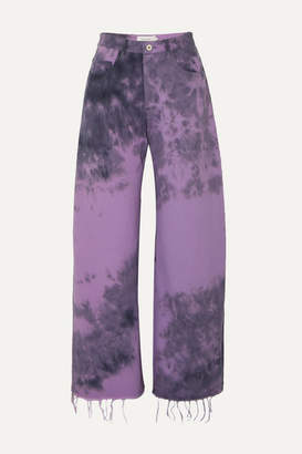 Marques Almeida Marques' Almeida - Tie-dyed Jeans - Purple