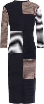 By Malene Birger Intarsia Merino Wool And Cotton-blend Dress
