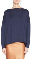 Lee Mathews Cotton Cashmere Boxy Knit Sweater