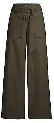 Opening Ceremony Women's Belted Cotton Cargo Pants