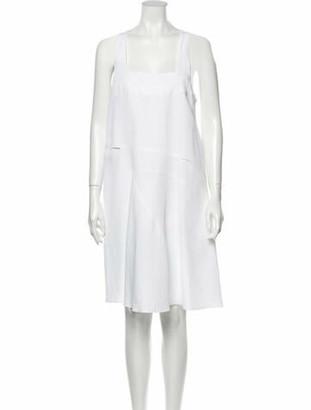 Chloé Silk Knee-Length Dress White