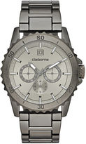 Claiborne Mens Gunmetal Strap Watch