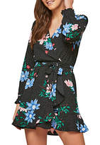 Miss Selfridge Petite Flower and Spot Dress, Multi