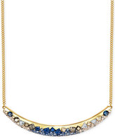 Swarovski Gold-Tone Faceted Stone and Crystal Collar Necklace