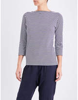 Sunspel Striped cotton-jersey top