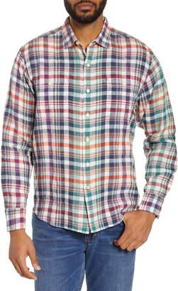 Tommy Bahama Summer Night Plaid Button-Up Linen Shirt