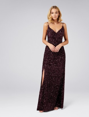 Forever New Giselle Sequin Gown - Berry Sequin - 8
