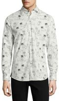 Vilebrequin Elephant Print Cotton Shirt