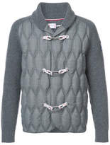 Moncler Gamme Bleu Quilted Toggle Cardigan - Grey - Size S