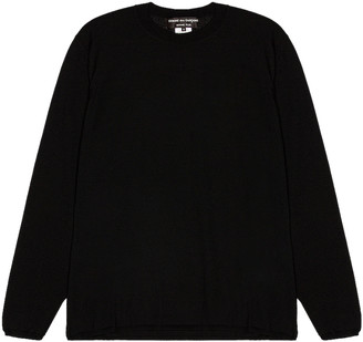 Comme des Garcons Long Sleeve Sweater in Black   FWRD