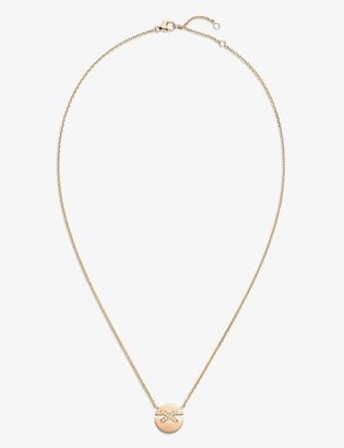 Chaumet Jeux de Liens Harmony 18ct rose-gold and 0.06ct brilliant-cut diamond pendant necklace
