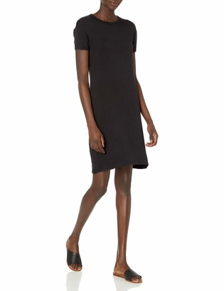 Daily Ritual Amazon Brand Women's Supersoft Terry Short-Sleeve Open Crew Neck Dress
