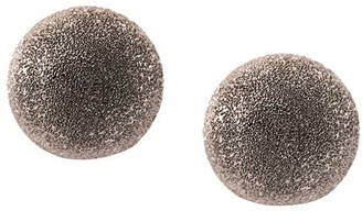 Carolina Bucci 18kt white gold medium Sparkly Half Ball earrings