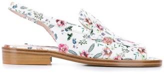 Leandra Medine Floral Print Sandals