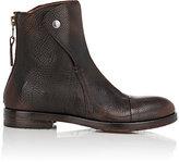 Elia Maurizi Men's Cap-Toe Ryder Boots-BROWN