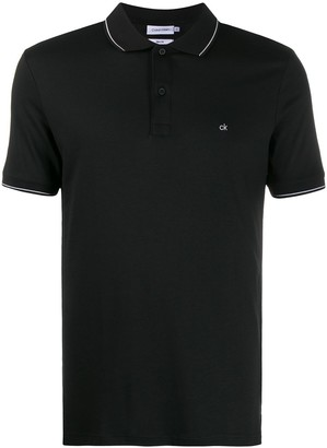 Calvin Klein Striped Trim Polo Shirt
