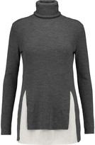 Joseph Merino wool and washed-silk turtleneck sweater
