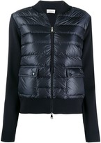 Moncler short quilted zipped jacket