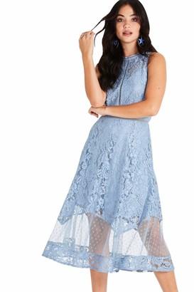 Little Mistress Women's Alexina Lace Midi Dress Party