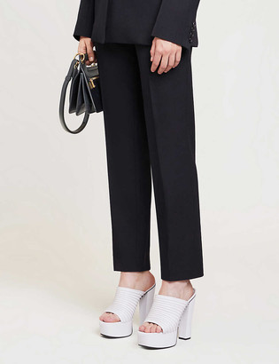 Givenchy Cropped straight mid-rise wool and cotton-blend trousers