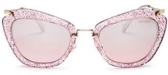 Miu Miu Women's Glitter Cat Eye Sunglasses, 55mm