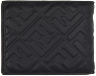 Fendi Black Forever Bifold Coin Wallet