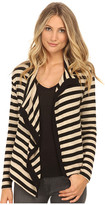 Velvet by Graham & Spencer Violetta03 Cozy Jersey Stripe Cardigan