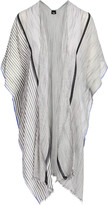 Lvs Collections LVS Collections Women's Kimono Cardigans GRAY - Gray & White Stripe Kimono - Women