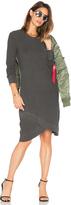 Wilt Cross Hem Long Sleeve Dress