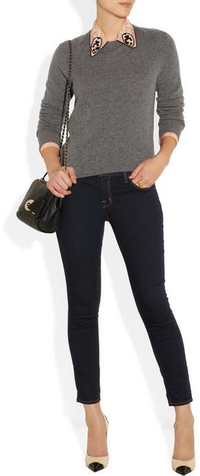 J Brand 835 cropped mid-rise Capri jeans