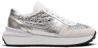 Car Shoe Metallic Glitter-Effect Sneakers