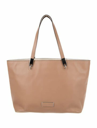 Marc by Marc Jacobs Bicolor Leather Tote Silver