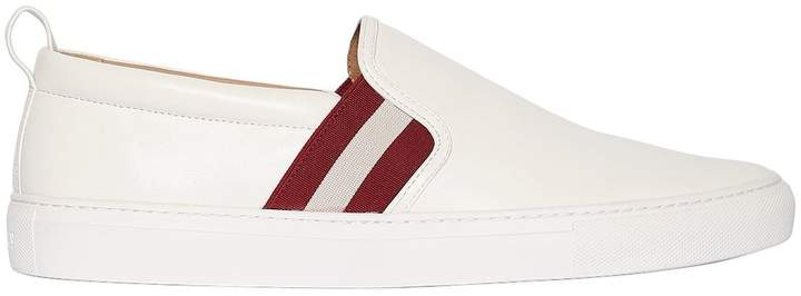 Bally Leather Slip-On Sneakers