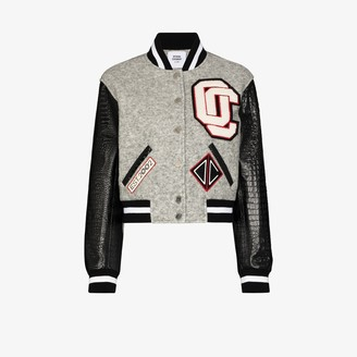 Opening Ceremony Cropped Varsity Bomber Jacket