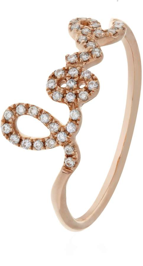 Sydney Evan Love Script Diamond Ring