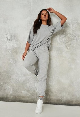 Missguided Gray Co Ord T Shirt And Jogger Set