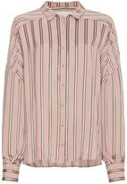 Esteban Cortazar Striped Satin Shirt