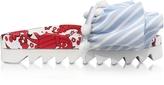 Joshua Sanders Lobster Embroidery Multicolor Fabric Slide